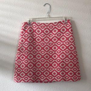 Geo print LOFT mini skirt size 2